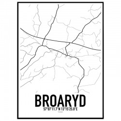 Broaryd Karta Poster