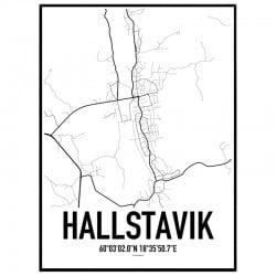 Hallstavik Karta Poster