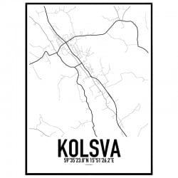 Kolsva Karta Poster