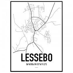Lessebo Karta Poster