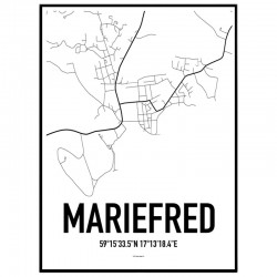 Mariefred Karta Poster