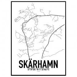 Skärhamn Karta Poster