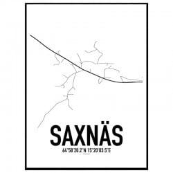 Saxnäs Karta Poster