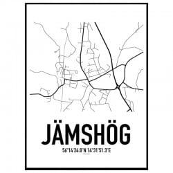 Jämshög Karta Poster