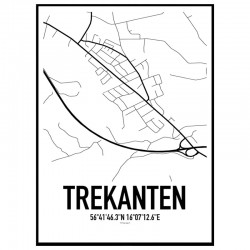 Trekanten Karta Poster