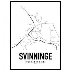 Svinninge Karta Poster