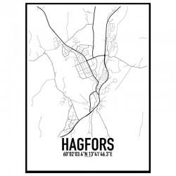 Hagfors Karta Poster