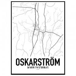 Oskarström Karta Poster