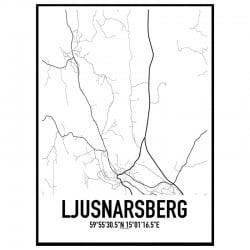 Ljusnarsberg Karta