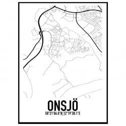 Onsjö Karta Poster