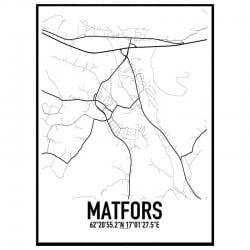 Matfors Karta Poster