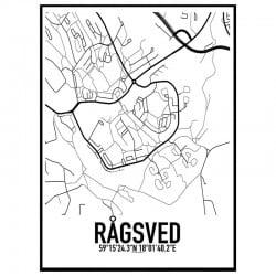 Rågsved Karta Poster