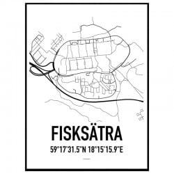 Fisksätra Karta Poster