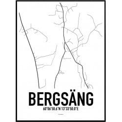Bergsäng Karta Poster