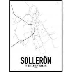 Sollerön Karta Poster