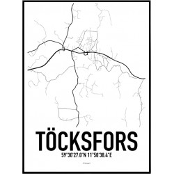 Töcksfors Karta Poster