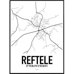Reftele Karta Poster