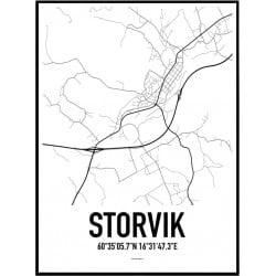 Storvik Karta Poster