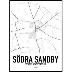 Södra Sandby Karta