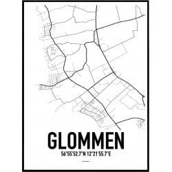 Glommen Karta Poster