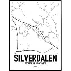 Silverdalen Karta Poster