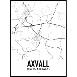 Axvall Karta Poster