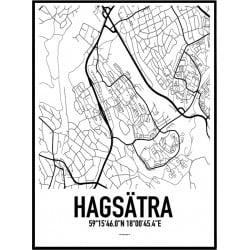 Hagsätra Karta Poster