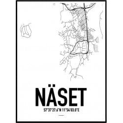 Näset Karta Poster