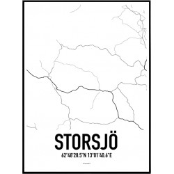 Storsjö Karta Poster