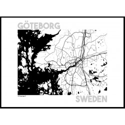 Karta Göteborg Poster