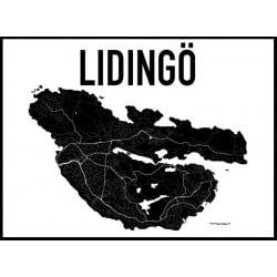 Karta Lidingö Poster