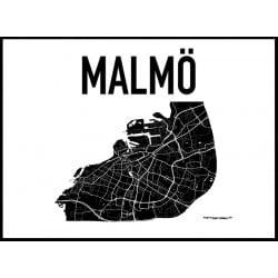 Karta Malmö Poster