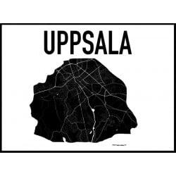 Karta Uppsala Poster