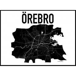 Karta Örebro Poster