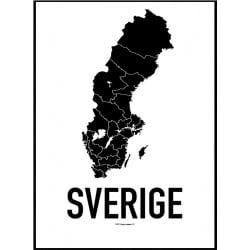 Sverige Karta Poster