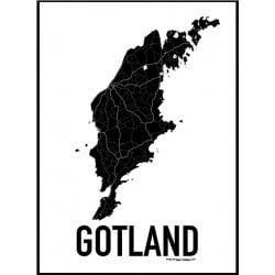 Karta Gotland Poster
