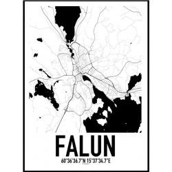 Karta Falun Poster