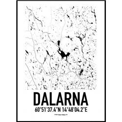 Karta Dalarna Poster