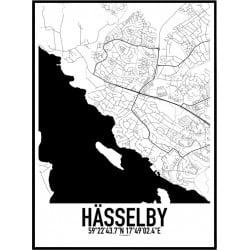 Hässelby Karta Poster
