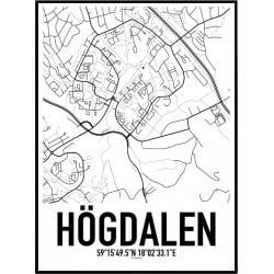Högdalen Karta Poster