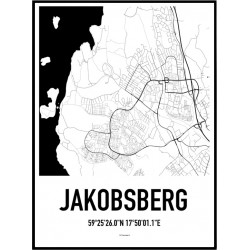 Jakobsberg Karta Poster