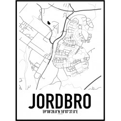 Jordbro Karta Poster