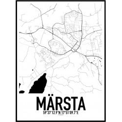 Märsta Karta Poster
