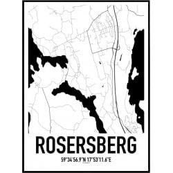Rosersberg Karta Poster