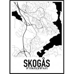 Skogås Karta Poster