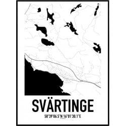 Svärtinge Karta Poster