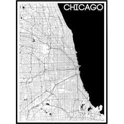 Karta Chicago Poster