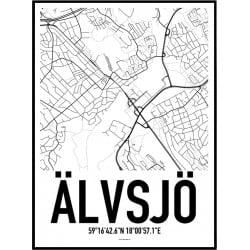 Älvsjö Karta Poster