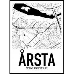 Årsta Karta Poster