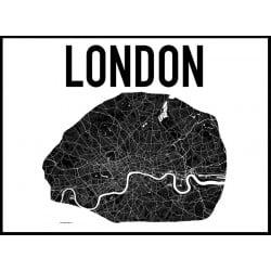 Karta London Poster